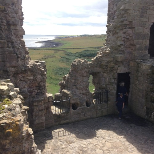View from Dunstanburgh Castle- a short stroll away from the cottage