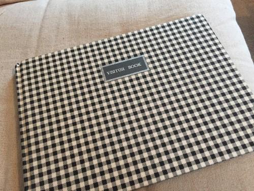 Visitor Book-Northumberland tartan