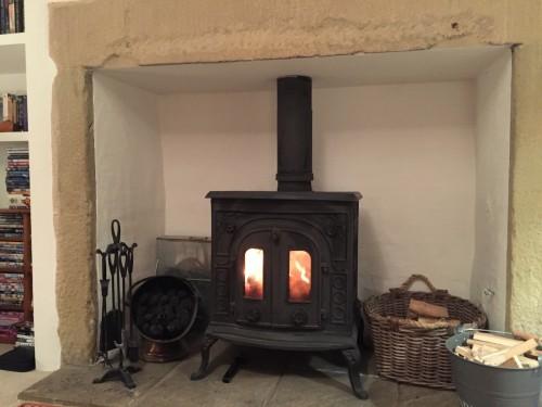 Fireside at Owl Cottage October 2015